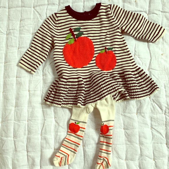 GAP Other - Baby Gap Apple Dress and Tights